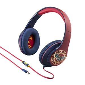 eKids Wonder Woman Over The Ear Headphones with in Line Microphone for $24