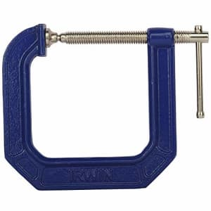 IRWIN Tools QUICK-GRIP 100 Series Deep Throat C-Clamp, 3-inch by 4 1/2-inch Throat (225134) for $14