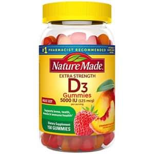 Nature Made Extra Strength Vitamin D3 5000 IU (125 mcg) Gummies, 150 Count for Bone Health for $30