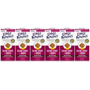 Little Remedies Saline Spray and Drops 1-oz. Bottle 6-Pack for $14
