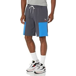 PUMA Men's Clsx Shorts, Ebony, L for $20