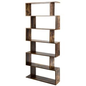 Costway 6-Tier S-Shaped Bookshelf for $100
