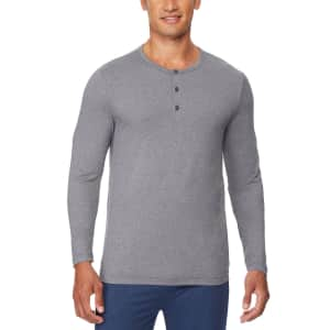 32 Degrees Men's Ultra Lux Henley Sleep T-Shirt for $5