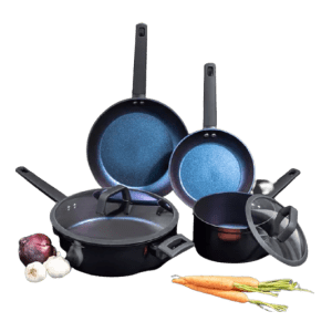 Brooklyn Steel Co. Galaxy 8-Piece Nonstick Cookware Set for $59