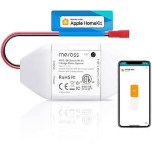 Meross Smart WiFi Garage Door Opener Remote for $50