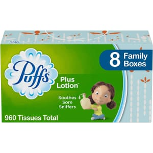 Puffs Plus Lotion 960-Count Facial Tissues for $11