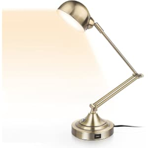 3-Color Dimmable LED Desk Lamp with USB Port for $50