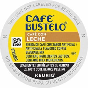 Cafe Bustelo Caf Bustelo Caf con Leche Flavored Espresso Style Coffee, 60 Keurig K-Cup Pods for $66