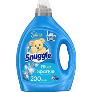 Snuggle Blue Sparkle 80-oz Liquid Fabric Softener for $12 via Sub & Save