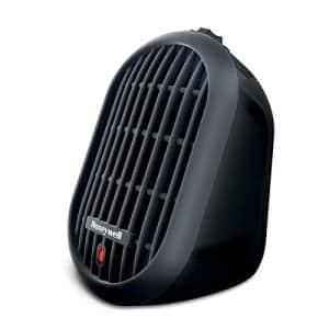 Honeywell HCE100B Heat Bud Ceramic Heater Black Energy Efficient Space Saving Portable Personal for $26