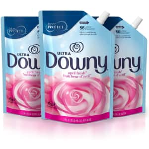 Downy Ultra Liquid Fabric Conditioner 48-oz. Smart Pouch 3-Pack for $11 via Sub & Save