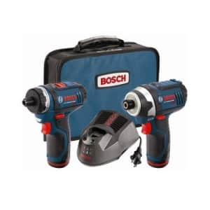 Bosch CLPK27120RT 12V Max Cordless Lithium-Ion Drill Driver and Impact Driver Combo Kit (Renewed) for $140