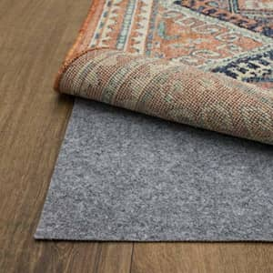 Mohawk Home Dual Surface Felt and Latex Non Slip Rug Pad, 5'x8', Gray for $44