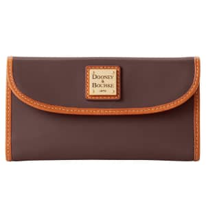 Dooney & Bourke Wexford Continental Leather Clutch for $79