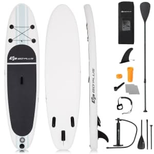 GoPlus 10-Foot Inflatable Stand Up Paddle Board for $199