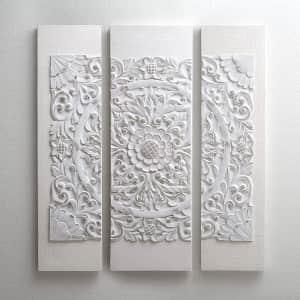 Madison Park Mandala 3-Piece 3D Embellished Canvas Wall Art for $75
