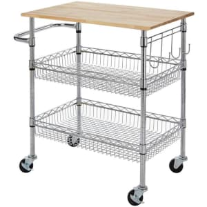StyleWell Gatefield Kitchen Cart for $70