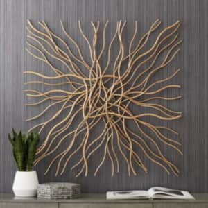 Newhill Designs Albright Gold Metal Wall Art for $80