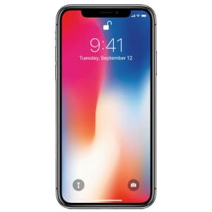 Unlocked Apple iPhone X 256GB GSM Smartphone for $325