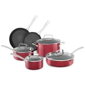 KitchenAid Architect Series Aluminum Nonstick 10-Piece Cookware Set for $99