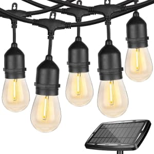Wenfeng 48-Foot Edison Solar String Lights for $60