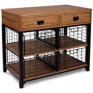 "Home Styles Modern Craftsman 47"" Oak Veneer Kitchen Island for $420"