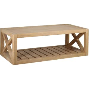 Stone & Beam Solid Pine Rustic Farmhouse Coffee Table for $229