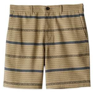 Billy Reid Men's Standard Fit Chino Shorts, Beige Textured Stripe, 38 for $117