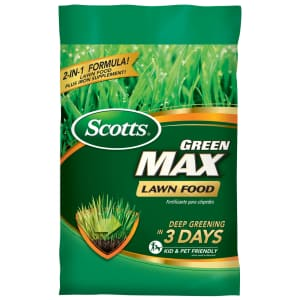 Scotts Green Max Lawn Food 5,000 Sq. Ft. Bag for $18