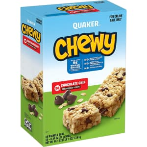 Quaker Oats Chewy Chocolate Chip Granola Bars 58-Pack for $10