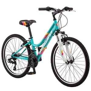 Schwinn High Timber Youth/Adult Mountain Bike, Steel Frame, 24-Inch Wheels, 21-Speed, Teal for $675