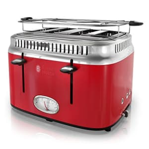 Russell Hobbs TR9250RDR Toaster, 4-Slice, Red for $87