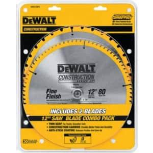 """DeWalt 12"""" Miter Saw Blade 2-Pack for $50"""