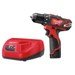 """Milwaukee M12 3/8"""" Drill Driver Kit for $75"""