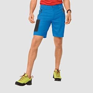 Jack Wolfskin Men's Active Track Men's Soft Shell Hiking Shorts 100% PFC Free, brilliant blue, 54 for $70