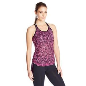SHAPE activewear Women's Mesh Layer Tank Top, Festival Fuchsia Digital, Medium for $45