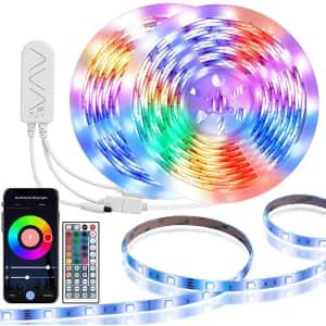 TaoTronics 16.4-Ft. Smart WiFi LED Strip Lights 2-Pack for $30
