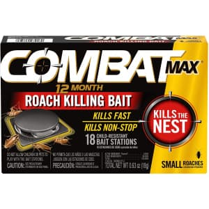 Combat Max 12 Month Roach Killing Bait 18-Pack for $10.14 via Sub & Save