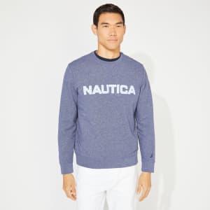 Nautica Men's Solid Crewneck Sweatshirt for $13