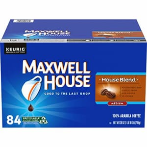 Maxwell House House Blend Medium Roast K-Cup Coffee Pods (84 Pods) for $25