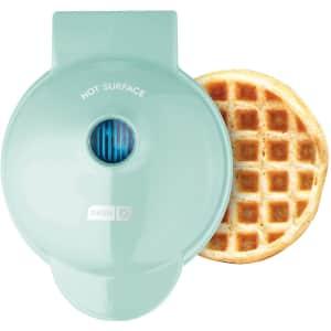 Dash Mini Waffle Maker for $18