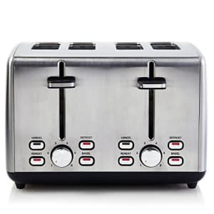 Continental Electric Toaster ps77451, 4-Slice, Stainless Steel for $55