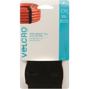 Velcro Brand One-Wrap Bundling Tie 3-Pack for $3