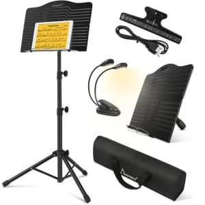Donner Sheet Music Stand with Light for $14