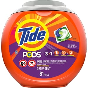 Tide Pods 3-in-1 Laundry Detergent Pacs 81-Pack for $16 via Sub & Save