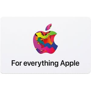 $100 Apple Gift Card: $100 w/ free $10 Best Buy GC