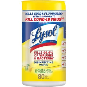 Lysol Disinfecting Wipes 80-Count for $4