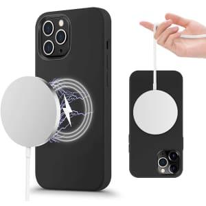 Ilofri Slim Liquid Silicone Case for iPhone 12 Pro Max for $6
