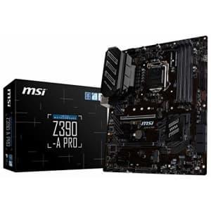 MSI Z390-A PRO LGA1151 (Intel 8th and 9th Gen) M.2 USB 3.1 Gen 2 DDR4 HDMI DP CFX Dual Gigabit LAN for $120