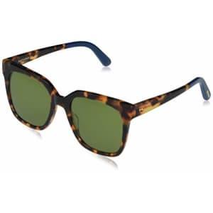 TOMS Women's Natasha Square Sunglasses, Blonde Tortoise/Bottle Green Polarized, 53-20-150 for $78